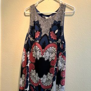 max studio navy and pink swing dress NWT